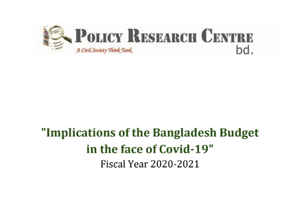 Policy Research Centre.bd (PRC.bd) Budgetary Team would like to put on record its appreciation to Professor Dr. Akbaruddin Ahmad, Chairman, Policy Research Centre.bd (PRC.bd) for his direction, supervision and foresight in preparing this report......
